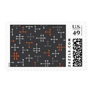 Retro Modern Pattern Postage