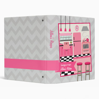 Retro Modern Pink Kitchen Recipe Binder