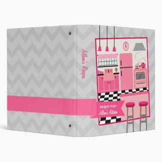 Retro Modern Pink Kitchen Recipe Binder