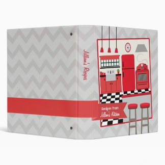 Retro Modern Red Kitchen Recipe Binder
