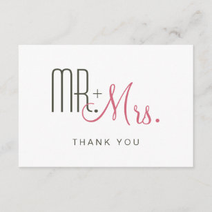 Mid Century Modern Thank You Cards Zazzle