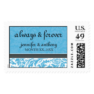 Retro Modern Thistle-Always & Forever Large Postage Stamps
