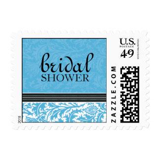 Retro Modern Thistle-Bridal Shower Small Postage