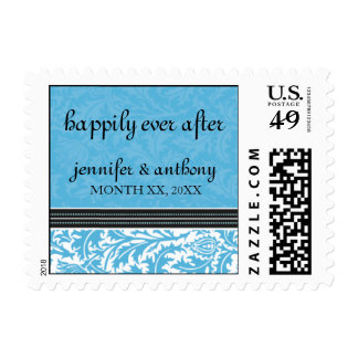 Retro Modern Thistle-Happily Ever After Postage