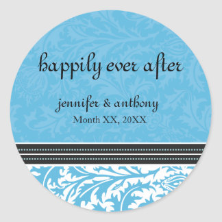 Retro Modern Thistle-Happily Ever After Sticker