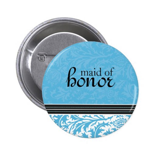 Retro Modern Thistle-Maid of Honor Button