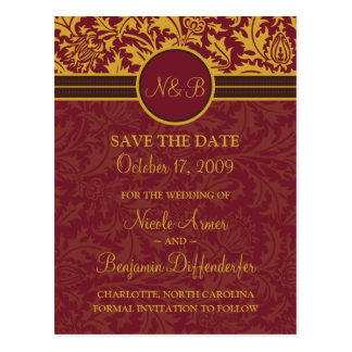 Retro Modern Thistle-Save The Date 5 Postcard