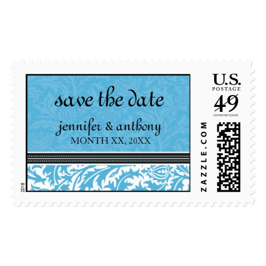 Retro Modern Thistle-Save The Date-Custom Postage
