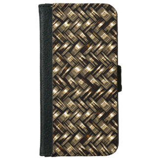 Retro Modern Trendy Cool Abstract Weave Pattern Wallet Phone Case For iPhone 6/6s