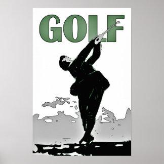 Retro modern vector art Golf Print