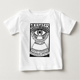 retro modern vintage advertisement: Keyzer Optical Baby T-Shirt