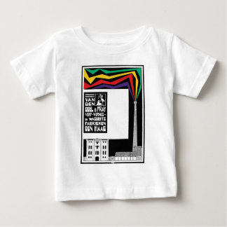 Retro modern vintage paint factory advertisement baby T-Shirt