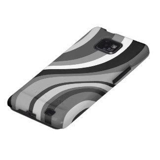 Retro modern waves, curves black, grey, white gift samsung galaxy s2 cases