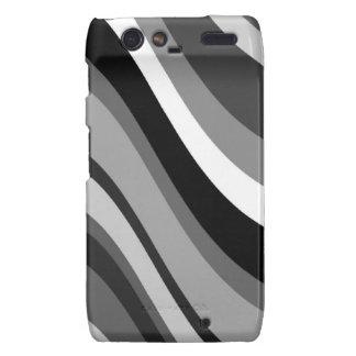Retro modern waves, curves black, grey, white gift droid RAZR cover
