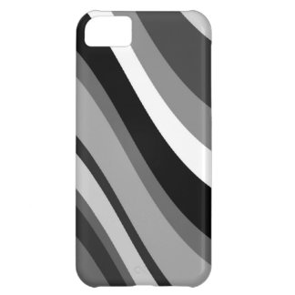 Retro modern waves, curves black, grey, white gift iPhone 5C covers