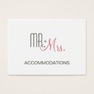 Retro Modern Wedding Accommodations Business Card