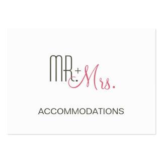 Retro Modern Wedding Accommodations Large Business Card