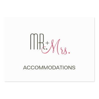 Retro Modern Wedding Accommodations Large Business Cards (Pack Of 100)