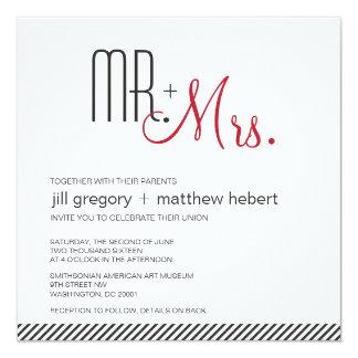 Retro Modern Wedding Card