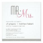 Retro Modern Wedding Custom Invite