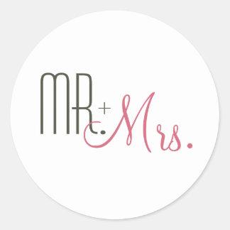 Retro Modern Wedding Envelope Seals Classic Round Sticker