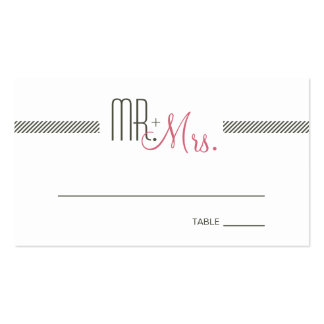 Retro Modern Wedding Escort Place Card