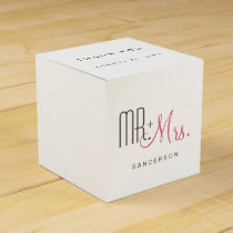 Retro Modern Wedding Favor Box