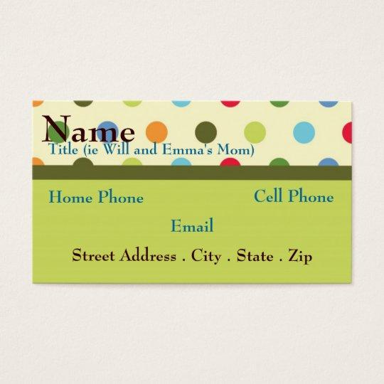 Retro Mom Business Card