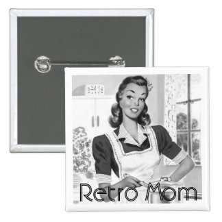 Retro Mom Cook Pinback Button