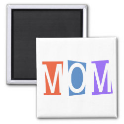 Square Magnet with Retro Mom design