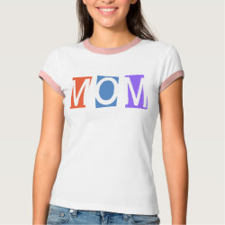 Ladies Ringer T-Shirt with Retro Mom design