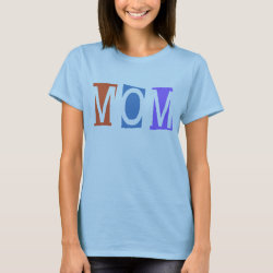 Women's Basic T-Shirt with Retro Mom design