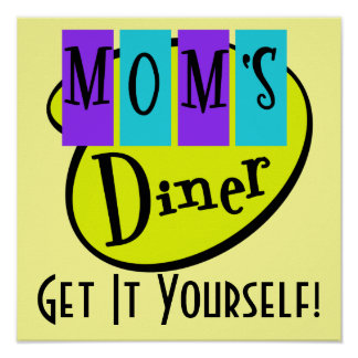Retro MOM'S DINER Wall Art Posters