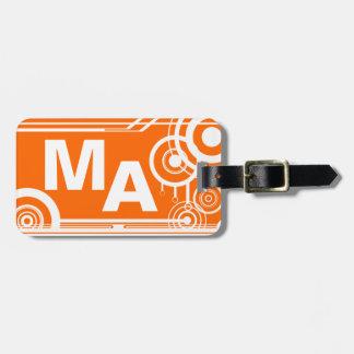 Retro Mongram Orange Tag For Luggage