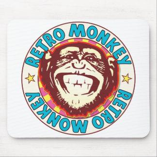 Retro Monkey Mouse Pad