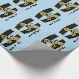 retro monogram - H Wrapping Paper