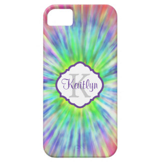 Retro Monogram Tie Dye  iPhone 5 Case