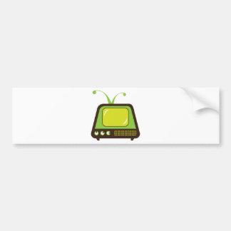 Retro monster antenna TV Bumper Sticker