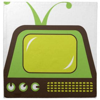 Retro monster antenna TV Napkin