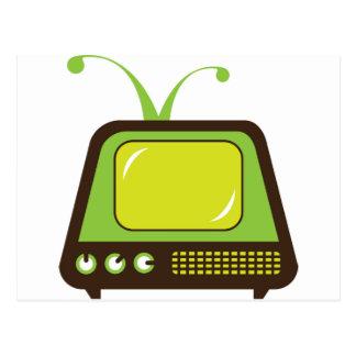 Retro monster antenna TV Postcard