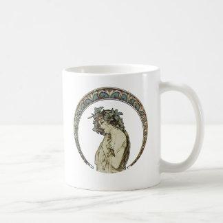Retro Moon Goddess Art Mugs