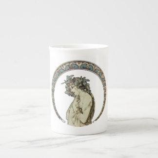 Retro Moon Goddess Art Bone China Mugs