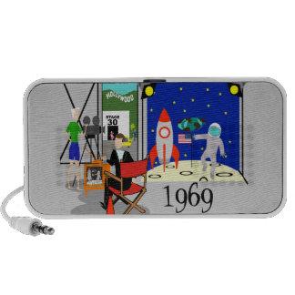 Retro Moon Landing Portable Speaker