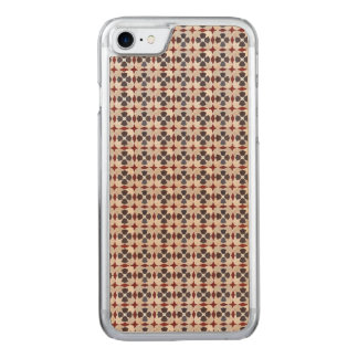 Retro Moroccan Pattern (Red, Blue, Beige) Carved iPhone 8/7 Case