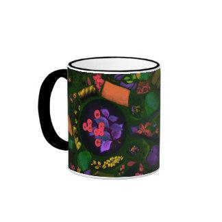 Retro mosaics ringer mug