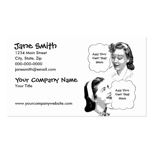 Retro Mother & Daughter Business Card