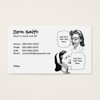 Retro Mother & Daughter Contact Card