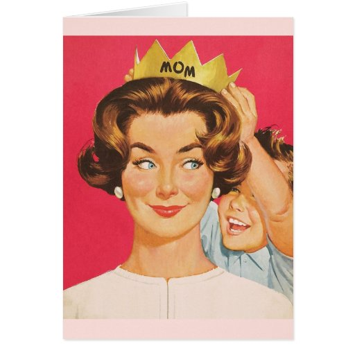 Retro Mother S Day Greeting Card Zazzle