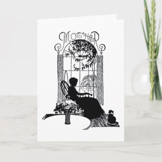 Retro Mother's Day Silhouette Card