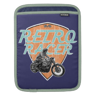 Retro moto racing iPad sleeves